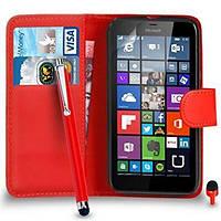 Чехол IETP для Microsoft Lumia 640 книжка кожа PU красный