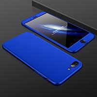 Чехол GKK 360 для Iphone 7 / Iphone 8 Бампер оригинальный без вырезa накладка Blue