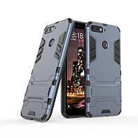 "Чехол Iron для Honor 7A Pro (5.7"") бронированный Бампер Броня Dark Blue"