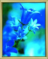 """Набор для картины """" Колокольчики в саду"""" своими руками кристаллами Сваровски"""