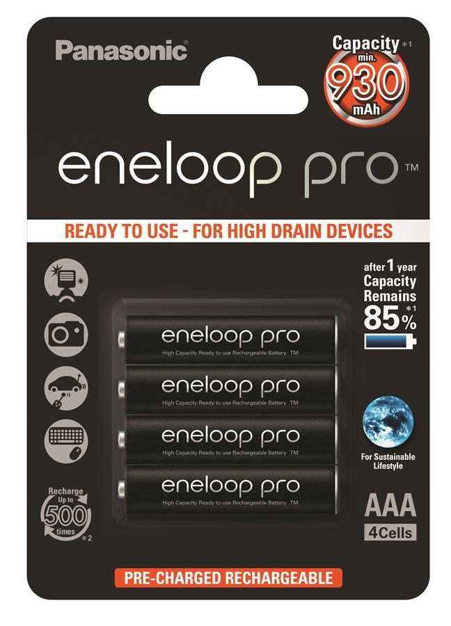 Акумулятор Panasonic Eneloop Pro AAA 930 mAh 2BP 4шт
