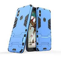 Чехол Iron для Xiaomi Redmi S2 бронированный бампер Броня Blue