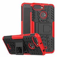 Чехол Armor для Xiaomi Redmi 6 противоударный бампер Красный