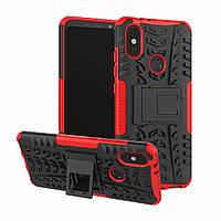 Чехол Armor для Xiaomi Mi A2 / Mi 6X противоударный бампер Red