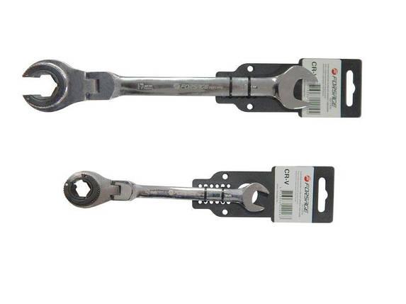 Ключ комбинированный трещоточные разрезной с шарнирами 10 мм * 175 мм, F-75710FN FORSAGE, фото 2