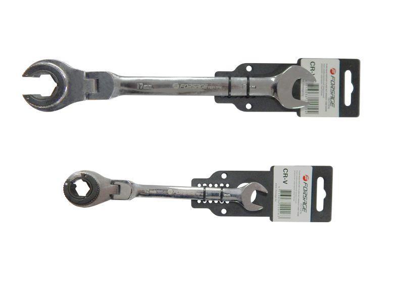 Ключ комбинированный трещоточные разрезной с шарнирами 17 мм * 235 мм, F-75717FN FORSAGE