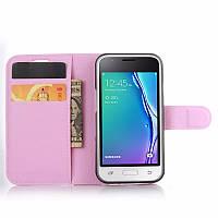 Чехол IETP для Samsung Galaxy J1 Mini / J105 книжка кожа PU розовый