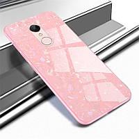 Чехол Marble для Xiaomi Redmi 5 Plus бампер мраморный оригинальный Pink