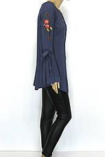 блуза туніка з вишивкою і рукавом воланом, фото 2