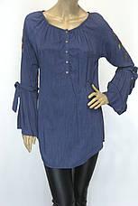 блуза туніка з вишивкою і рукавом воланом, фото 3