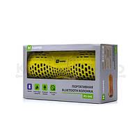 Колонки портативные 2.0 Harper PS-045 RMS 6W, Bluetooth, микрофон, влагонепроницаемые, питание от аккумулятора, жёлтый, фото 4