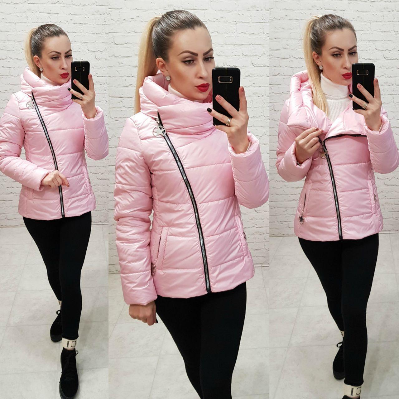 Демисезонная куртка 2019 ,арт. 501, цвет розовый