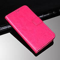 Чехол Idewei для iPhone 5 / 5s / SE книжка кожа PU малиновый