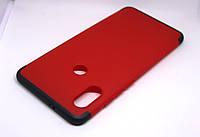 Чехол GKK 360 для Xiaomi Redmi Note 5 / Note 5 Pro Global бампер оригинальный RED-Black