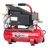 Компрессор 9 л, 0.75 кВт, 220 В, 8 атм, 160 л/мин INTERTOOL PT-0002, фото 3
