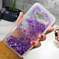Чехол Glitter для Samsung G530 / G531 / Galaxy Grand Prime бампер Жидкий блеск Фиолетовый