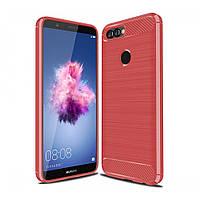 Чехол Carbon для Huawei P Smart / FIG-LX1 / FIG-LA1 бампер оригинальный Red