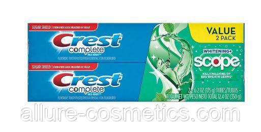Зубная паста Crest Scope  Whitening Plus 2 по 175гр