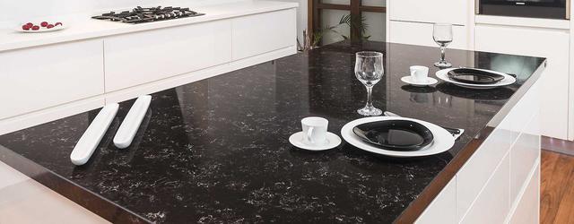 Столешница Искусственный камень - кварц 8727 Spa Black - Photo