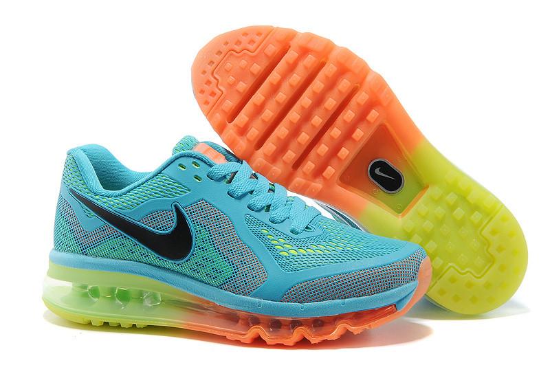 Женские кроссовки Nike Air Max 2014 сине-зеленые