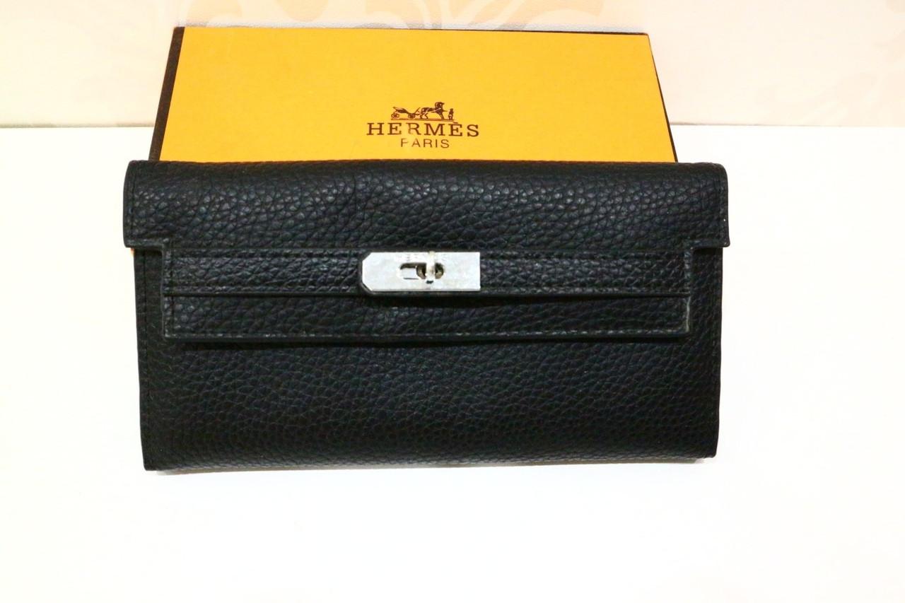 Черный женский кошелек «12906»