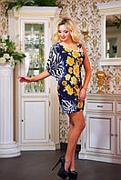 """Красивое молодежное платье мини """"Ассиметрия,цветочный принт"""", фото 1"""