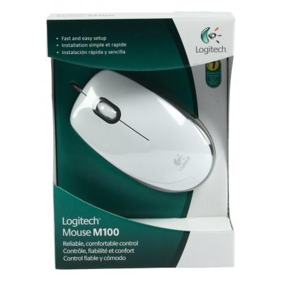Мышка Logitech M100 White (910-005004) 6