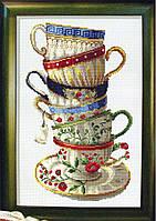 Набор для вышивания крестом «Набор кофейных чашек» (20 х 34 см) DOME 100108
