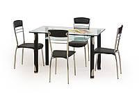 Стол обеденный стеклянный GOTARD черный Halmar
