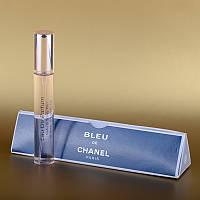 Мужская мини парфюмерия в треугольнике Chanel Bleu De Chanel (Шанель Блю Де Шанель) 15 ml DIZ