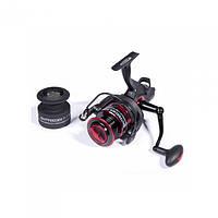 Катушка безинерционная для удилища Salmo Elite BAITFEEDER 7 4000FD / Катушка для рыбалки красно-черного цвета