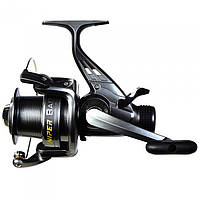 Катушка безынерционная для удилища Salmo Sniper Baitfeeder 4 3040BR / Катушка для рыбалки черного цвета