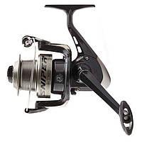 Катушка безынерционная для удилища Salmo Sniper FEEDER 2 2240FD / Катушка  для рыбалки черно-серого цвета
