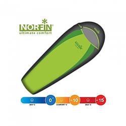 Мешок-кокон спальный Norfin Light 200 NF (left) зеленого цвета