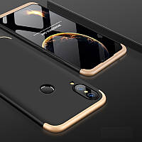 Чехол GKK 360 для Huawei P Smart Plus / Nova 3i / INE-LX1 бампер оригинальный Black-Gold