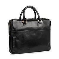 Портфель Virginia Conti VCM01512A кожаный Черный
