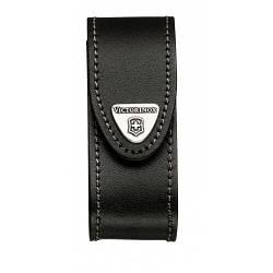 Чехол Victorinox поясной кожаный с фонариком черного цвета / чехлы для ножей