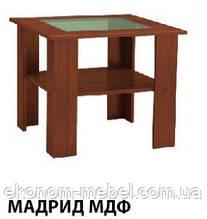 Приставной журнальный столик Мадрид ДСП и со стеклом МДФ