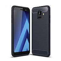 Чехол Carbon для Samsung A6 2018 / A600 бампер оригинальный Blue