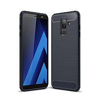 Чехол Carbon для Samsung Galaxy A6 Plus 2018 / A605 бампер синий