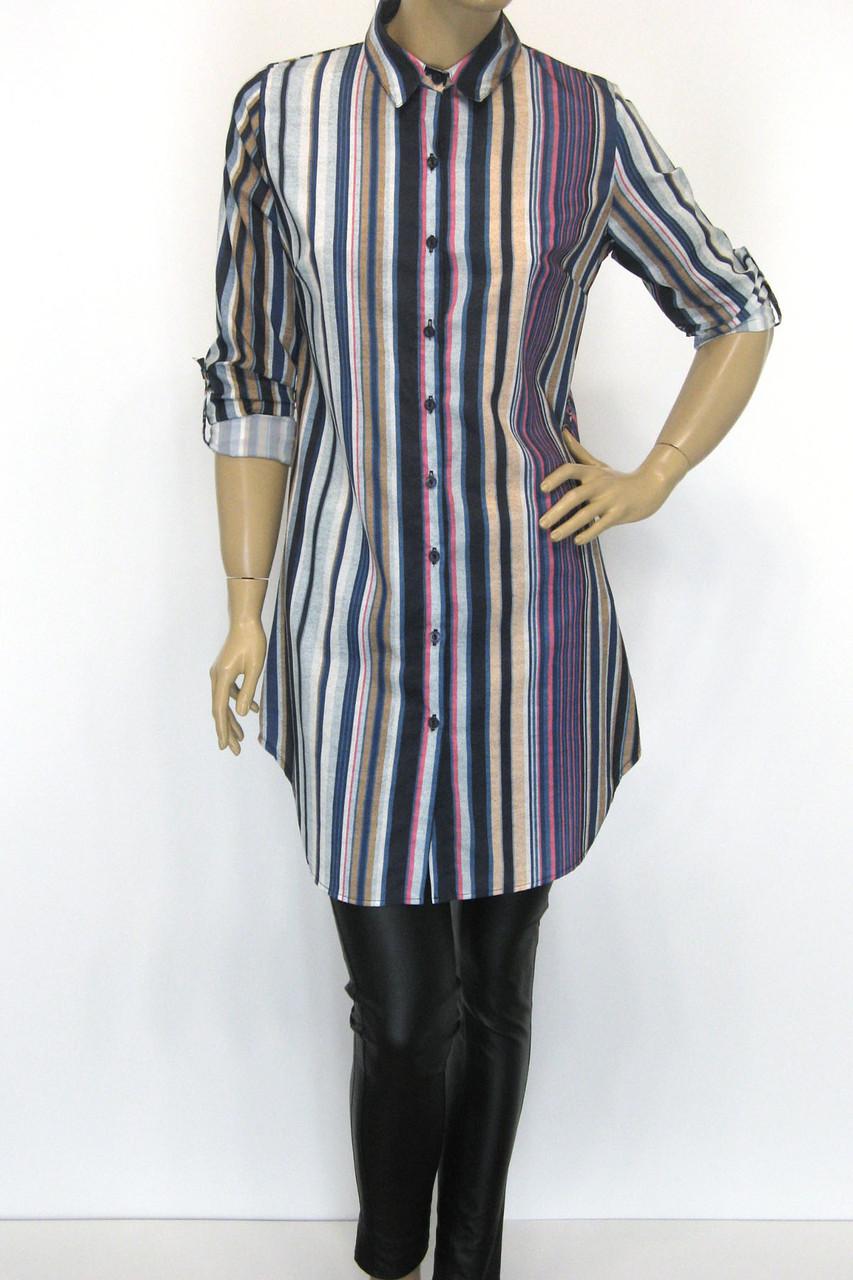 Жіноча сорочка-туніка в полоску Promisse