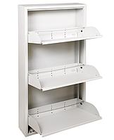 Тумба для обуви ТХОж-3, металлический шкаф для обуви в прихожую, офис