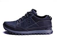 Мужские кожаные кроссовки New Balance Clasic Blue (реплика)