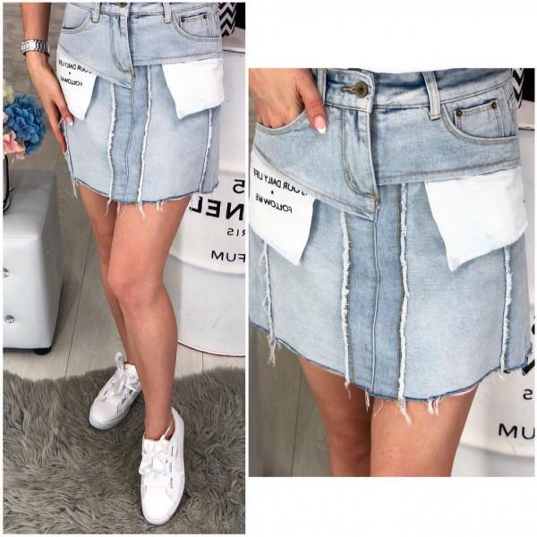 """Джинсовая мини юбка """"Кармашики"""""""