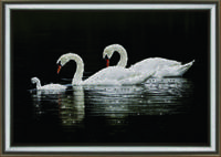 """Набор  """"Лебединая семья"""" для изготовления картины своими руками"""
