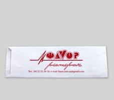 Пакет для столовых приборов 190х72х0 (Белый крафт)