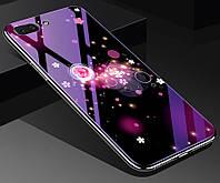 Чехол Glass-case для Iphone 7 / 8 бампер накладка Space