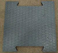 Цельнолитая резиновая плитка (пазл)