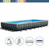 Intex 26374/54990/28372 (975 x 488 x 132 см.) Каркасный бассейн Ultra Frame Rectangular Pool