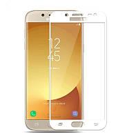 Защитное стекло AVG для Samsung J32016 J320 J300 полноэкранное белое